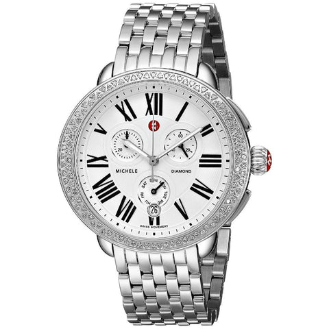 Michele Silver Serein Diamond Ladies Chronograph MWW21A000001 Watch