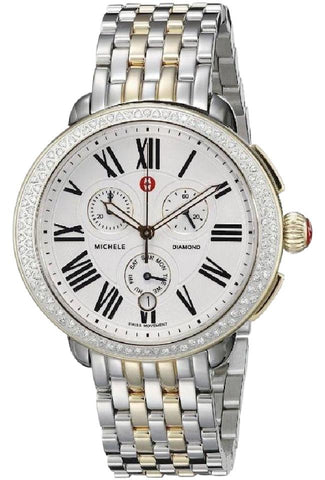 Michele Two Tone Serein Diamond Ladies Chronograph MWW21A000008 Watch