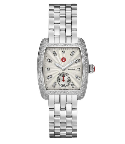 Michele Silver Urban Mini Diamond Bezel MW02A01A2942 Watch