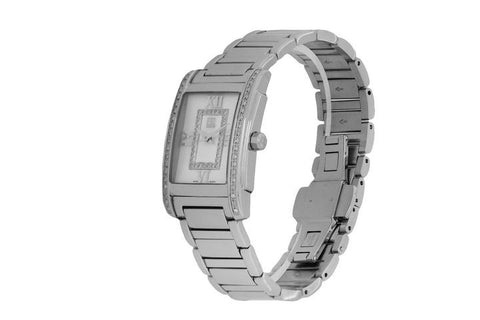 ESQ Movado Silver Ladies Kingston White Mop Diamonds 07101259