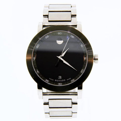 Movado Black Sport Museum Stainless Steel 07.1.14.1145