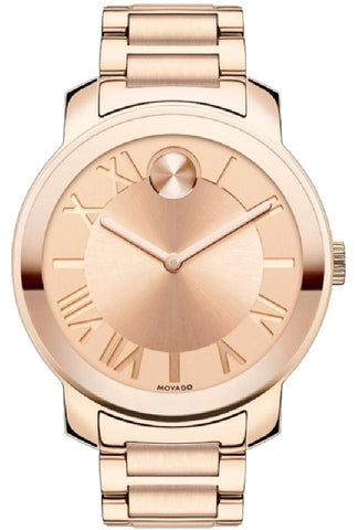 Movado Gold Rose Dial Rose Gold-Tone Unisex 3600199