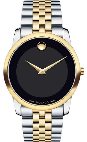 Movado Silver/Gold Museum Black Dial Two-tone Stainless Steel 0606605