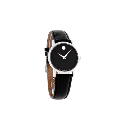 Movado Silver/Black Museum Ladies 0606130