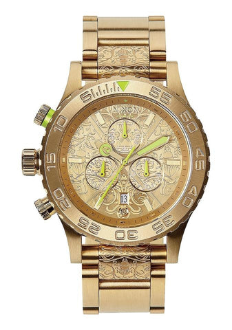 Nixon Gold 42-20 Chrono Yellow Beetlepoint A037-1902-00