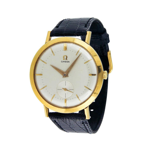 Omega Black/Gold Vintage 18k Yellow 35mm