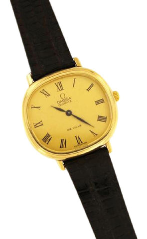Omega Two Tone Vintage Ville Quartz 10k Gold Filled Watch