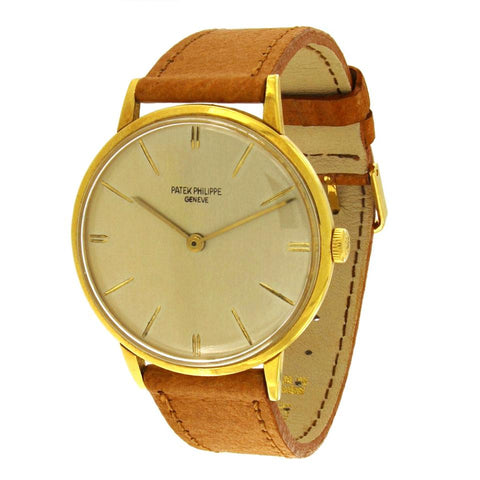 Patek Philippe Gold Vintage Calatrava 18k Yellow Gold 3468