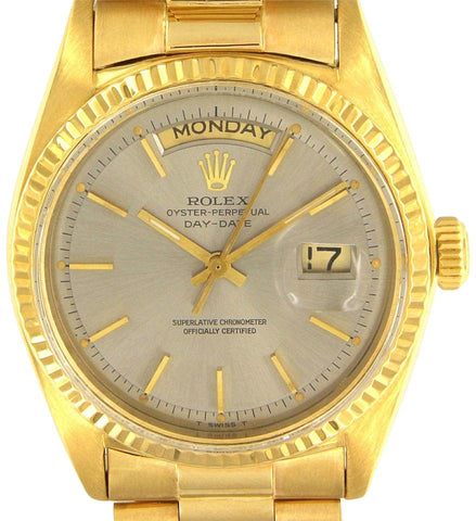 Rolex 18k Yellow Gold Oyster Perpetual Day-Date 1803