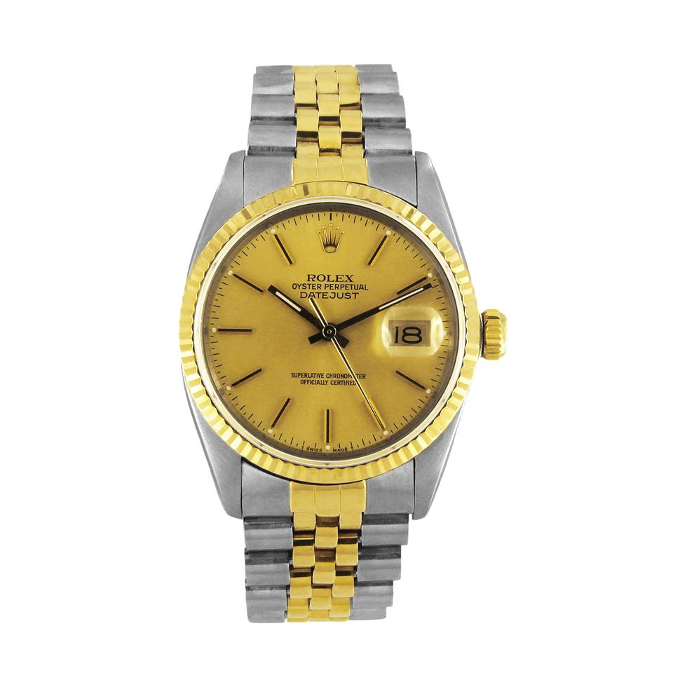 Rolex Two Tone Oyster Perpetual Datejust 18k Gold   Stainless Steel 16013 234f336de83a