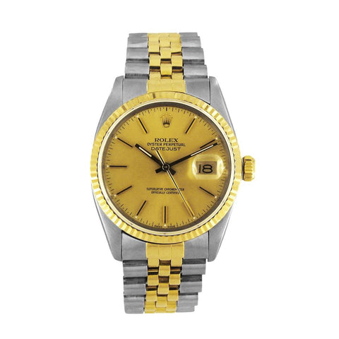 Rolex Two Tone Oyster Perpetual Datejust 18k Gold & Stainless Steel 16013