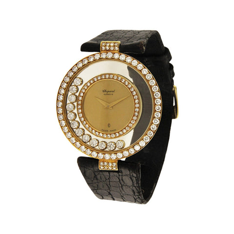 Chopard Happy Diamonds 18k Yellow Gold Watch 21/2847