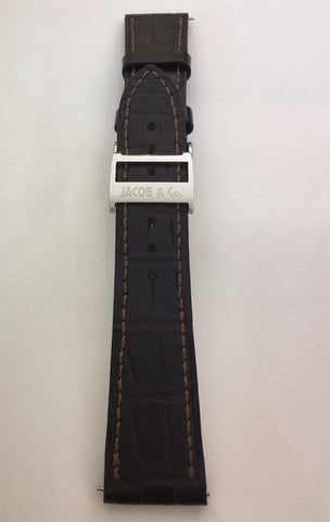 Jacob & Co. Genuine Brown Leather Strap