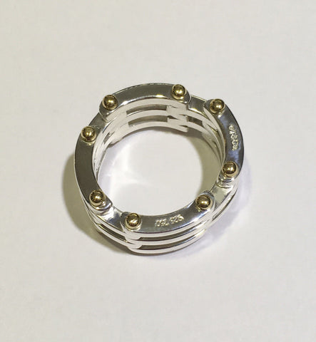 0c6a956d2 Tiffany & Co. Sterling Silver & 18k Yellow Gold Gatelink Ring ...