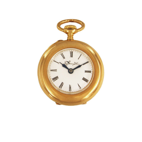 Tiffany & Co. Rare 1920's Vintage 18k Rose Gold Pocket Watch