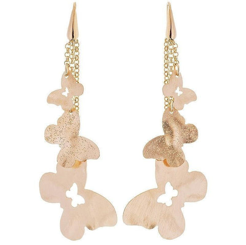 STROILI Italian Jewels Desìre Rosegold Plated Metal Earrings Cod. 1604460