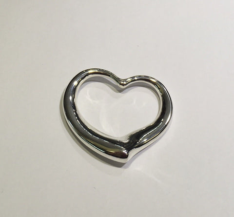 Tiffany & Co. Silver Elsa Peretti Big Open Heart Pendant