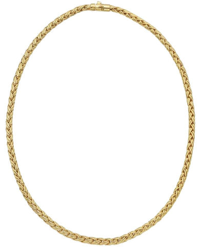 Tiffany & Co. 18k Yellow Gold Russian Wheat Chain Necklace