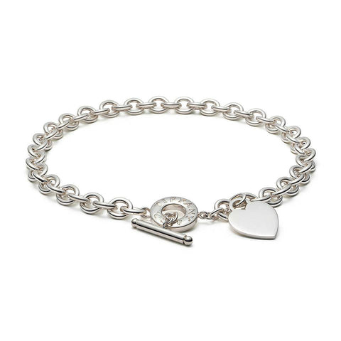 786643ceb Tiffany & Co. Silver Heart Tag Charm Toggle Necklace