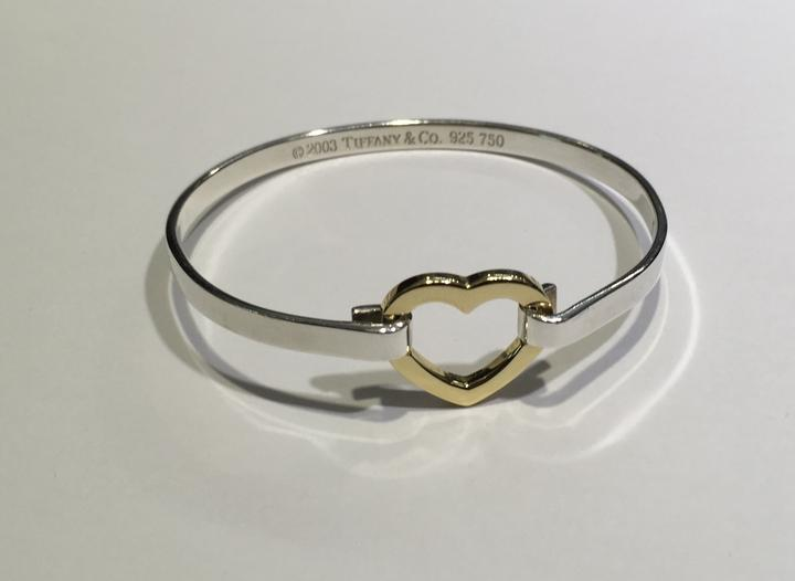 co bangles and heart bangle gold silver sterling double bracelet tiffany i tradesy
