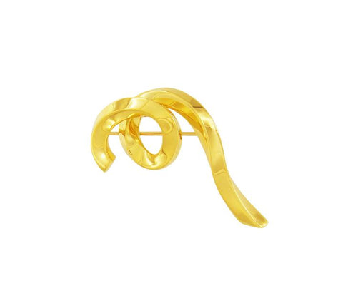 Tiffany & Co. Yellow Gold Curl Pin Brooch