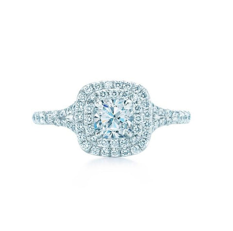 Tiffany & Co. Soleste Double Row in Platinum Ring
