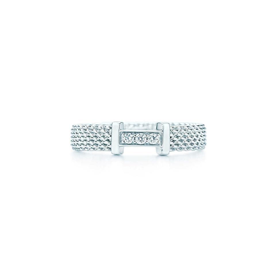 f5d0caffb79 Tiffany   Co. Silver Somerset Mesh Ring – Crown Jewelers