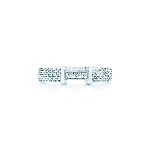 Tiffany & Co. Silver Somerset Mesh Ring