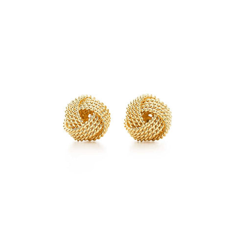 Tiffany & Co. Twist Knot 18k Yellow Gold Earrings