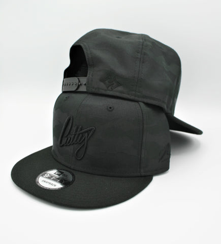 "Snapback - 1Liner Murdered Out Puff on ""Black Camo"""