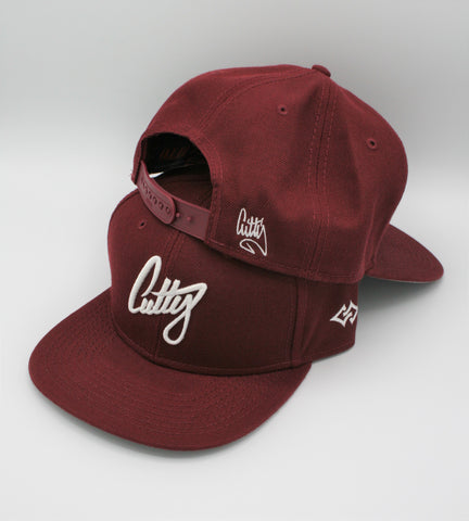 "Snapback - 1Liner Classic Puff on ""Maroon"""