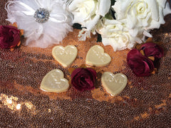 Love hearts chocolate wedding favours