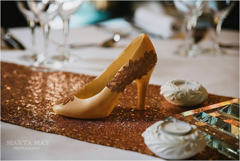 Belgian White Chocolate Wedding Shoe