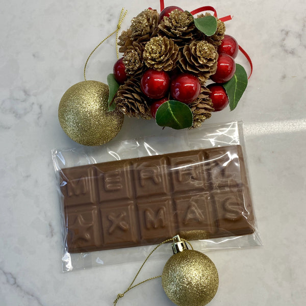 Merry Xmas Belgian Chocolate Bar