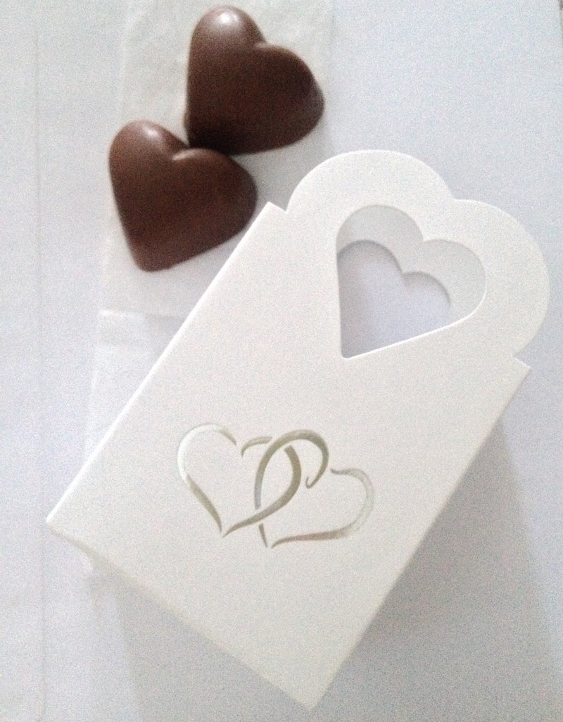 Two Belgian Chocolate Wedding Favours