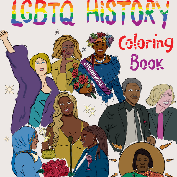 LGBTQ History Coloring Book (Qty 4, 10, 40, 100)