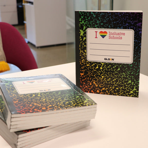 """I <3 Inclusive Schools"" Rainbow Composition Notebooks"