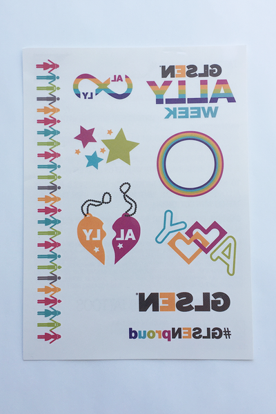 GLSEN Ally Week Temporary Tattoos