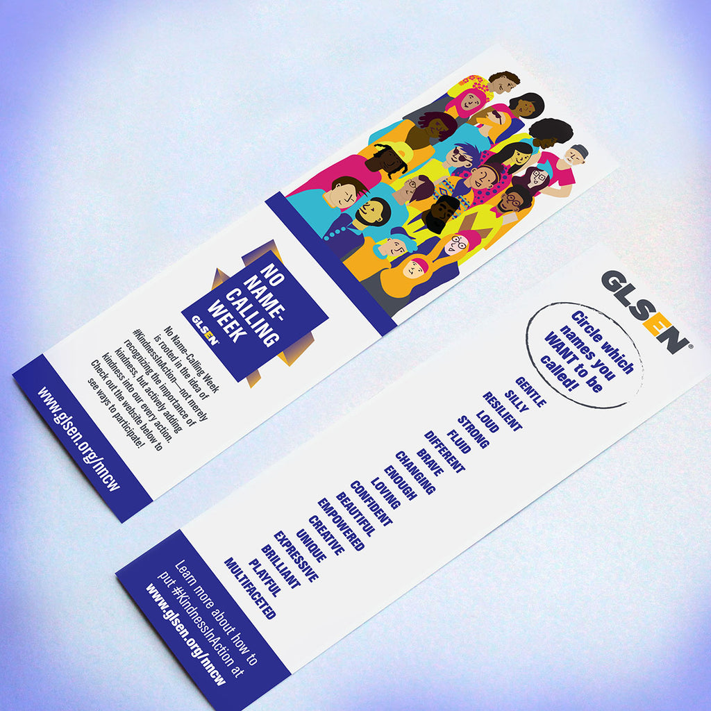 GLSEN No Name-Calling Week Bookmarks