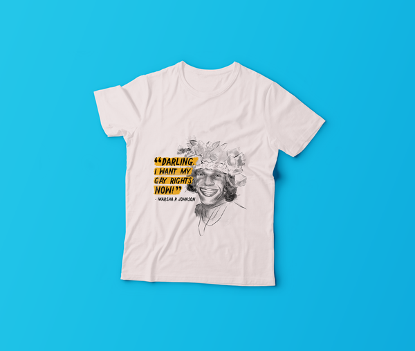 2019 GLSEN Pride Shirt: Honoring Our History, Marsha P Johnson