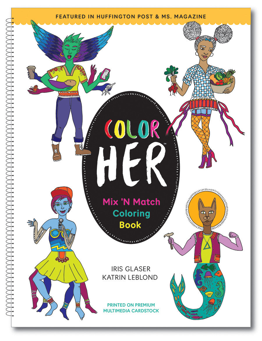 1 book - Color Her: Mix 'n Match Coloring Book