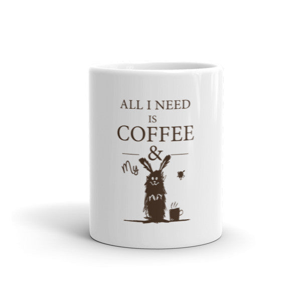 All I Need Is Coffee Mug & My Rabbit