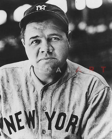 BABE RUTH Yankees PORTRAIT of The Bambino, 1930's