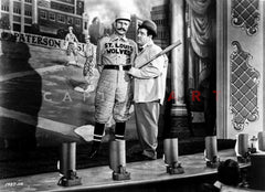 Abbott & Costello Posed in Suit While smiling in Classic Portrait Premium Art Print