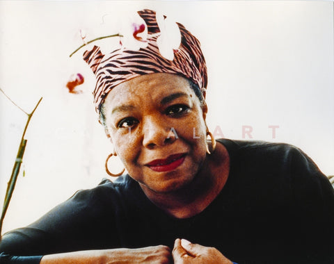 Maya Angelou Color Portrait Premium Art Print