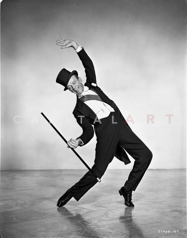 Fred Astaire Dancing in Black Top Hat and White Tie Premium Art Print