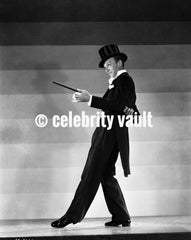 Fred Astaire Dancing on Miniature Building Premium Art Print