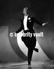 Fred Astaire Smirking in White Bow Tie Premium Art Print
