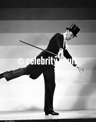 Fred Astaire smiling in Tuxedo and White Bow Tie Premium Art Print