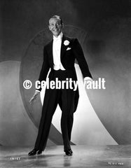 Fred Astaire Playing Tennis, Holding a Tennis Racket Premium Art Print